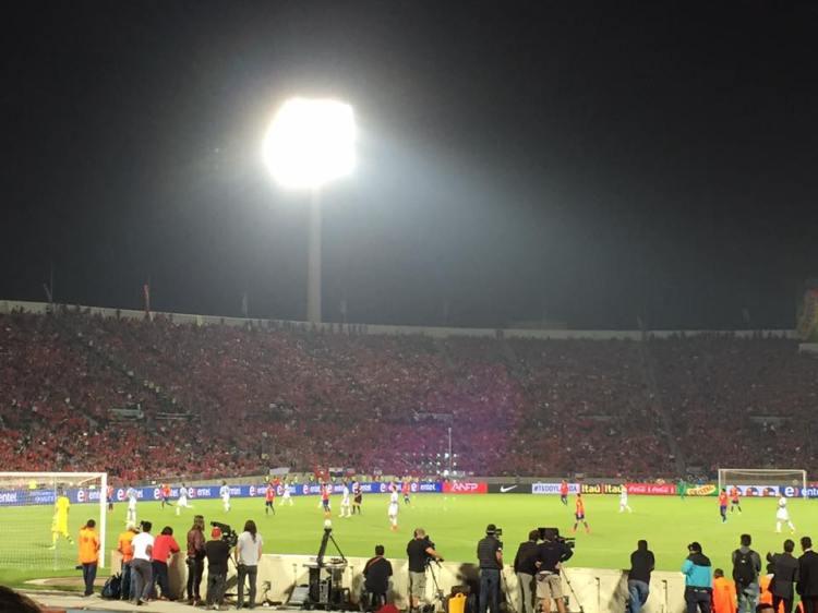 El Estadio Nacional de Chile seats around 50,000 people.