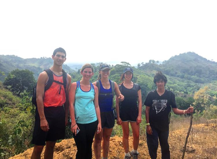 A picture with some ISA Barranquilla Students from the top of the Lost City because we earned it!