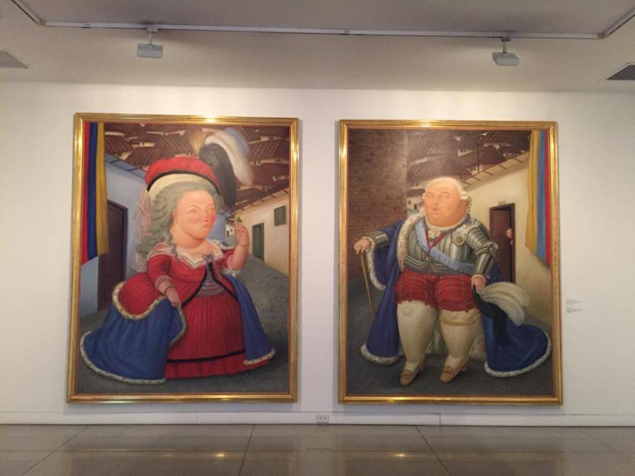 Some famous Botero artwork at the Museo Antioquia in Medellin.
