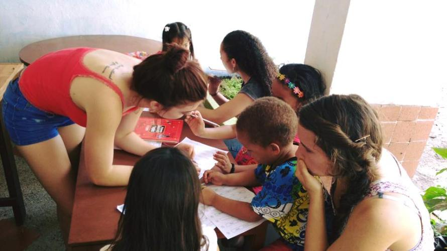 Working with the organization Scribble, teaching English to Colombian children. So much fun!
