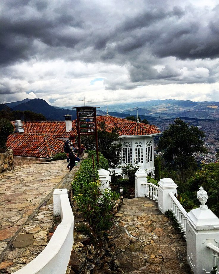 "While traveling to Bogota, we decided to take a metro cable to the top of Monserrate, a mountain featuring a church with a shrine, devoted to ""El Señor Caído"" and breathtaking views."