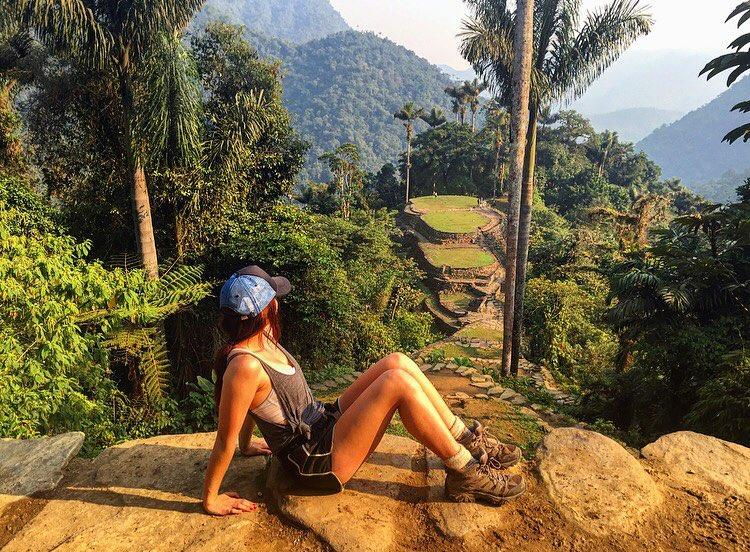 After hiking 4 days in the jungle, there's really nothing you can't do. Such a liberating experience!