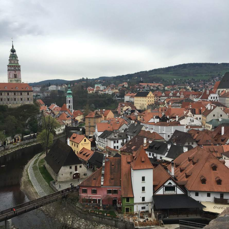 View from the Cesky Krumlov Castle, the red roofs don't just belong in Prague.