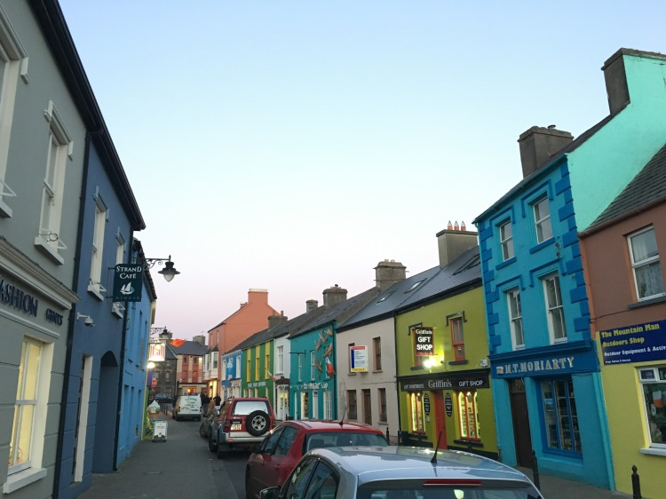 The colorful streets in the town of Dingle