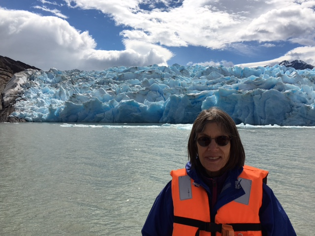 Glacier at the end of Lago Grey in Torres del Paine. Photo provided by Ginny Preston.
