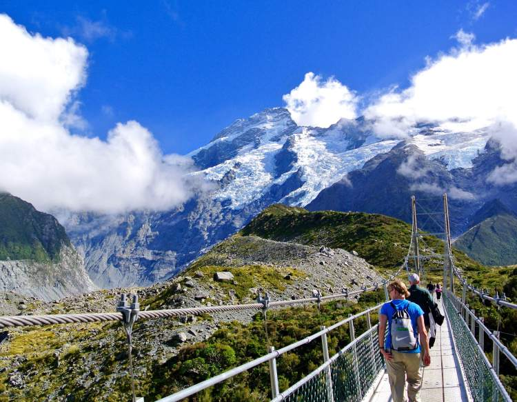 The Hooker Valley Trail gets more beautiful around every turn