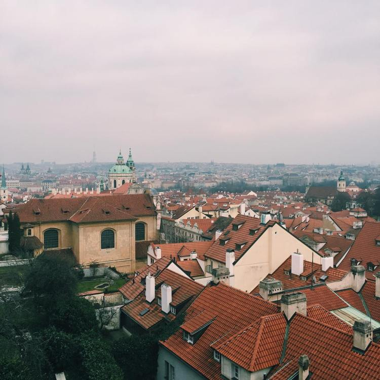 I know going out and exploring is something I do often when I am at home, so naturally I found myself out taking photos of some new favorite views. This one is from the outlook at Prague Castle, a personal favorite spot.