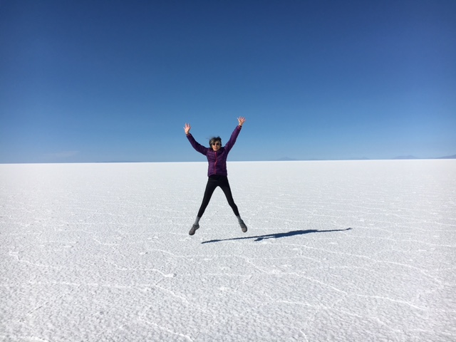 Salt flats in Bolivia. Photo provided by Ginny Preston.