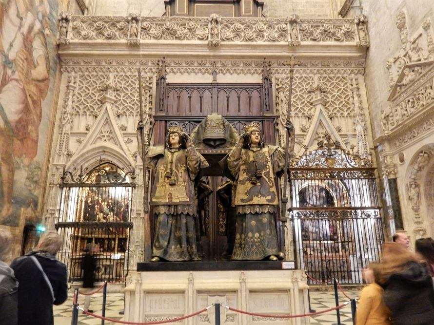 Christopher Columbus is buried in the Seville Cathedral.