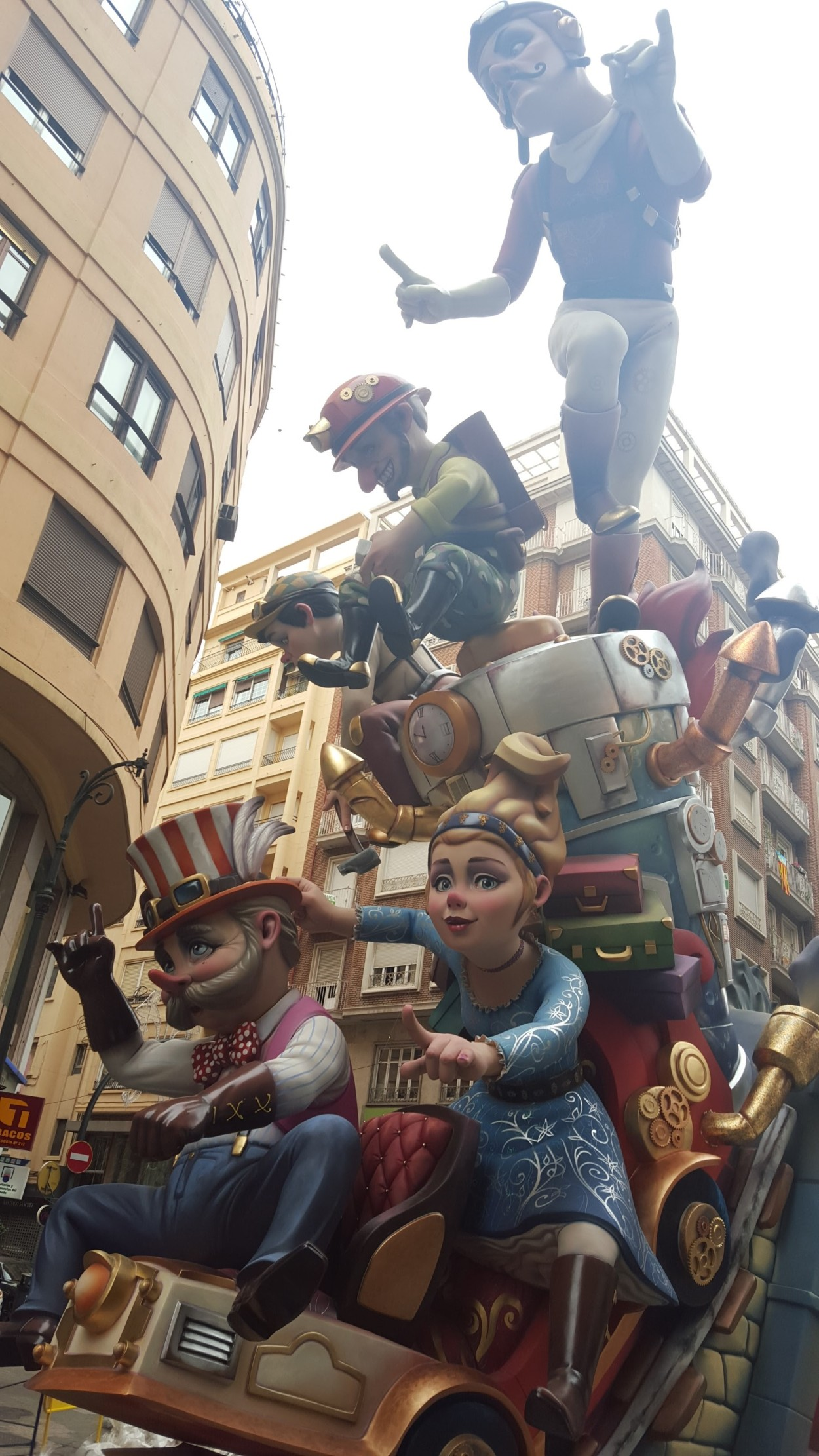 During the celebration of Fallas in Valencia, these statues called can be found throughout the city. It's a great excuse to see the city.