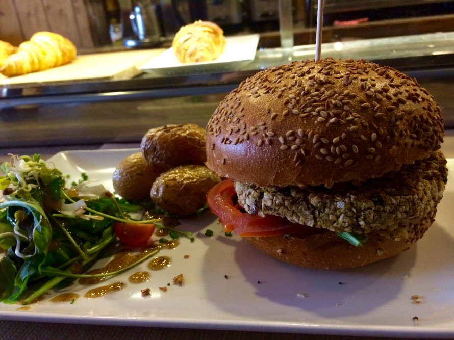 The amazing vegan burger