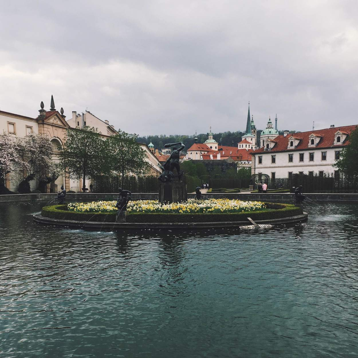 Hidden behind the Malostranska Metro stop, you can find the gardens of the Wallenstein Palace.