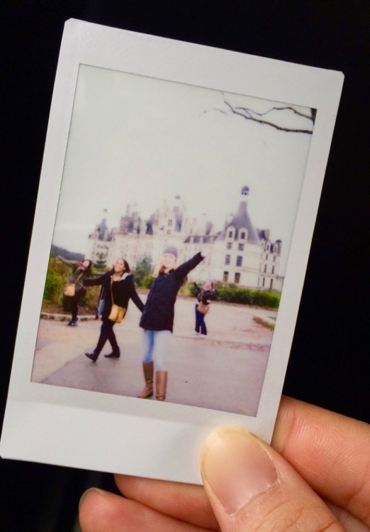 In front of the 'Château de Chambord' on an excursion with new friends