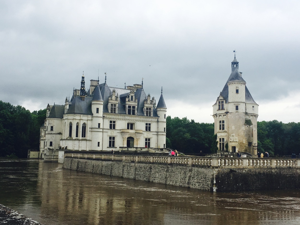 The main castle was constructed over the river of Cher.
