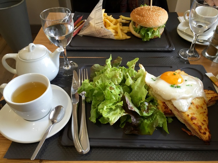 Here is a picture of the irresistible 'Croque Madame,' a classic plate in Paris. This one was by far the best one I've had. With these available all over Paris, you'll really have to watch your budget.