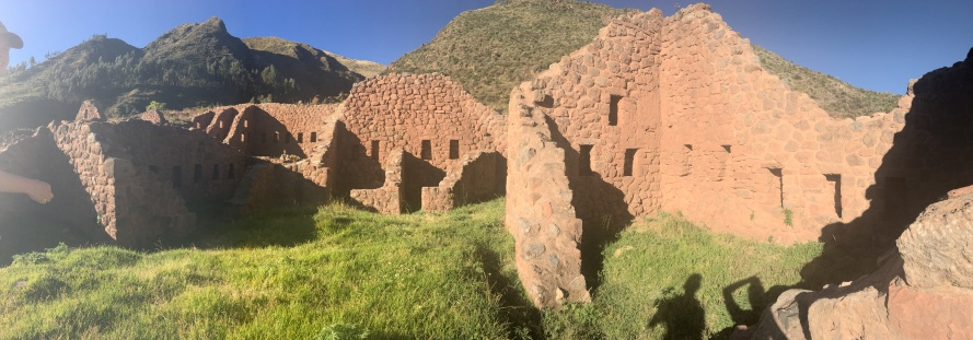 Here's a panoramic of the super neat structures you can find in Pukara
