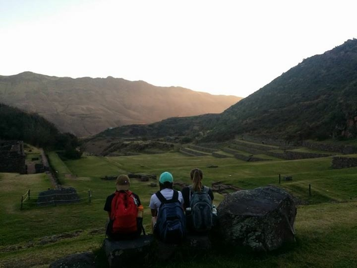 Me and some friends looking over Tipon close to sunset-we were exhausted from the hike but the views were definitely worth it!