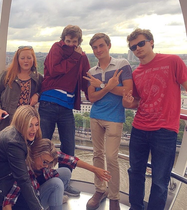 Our group on the London Eye.
