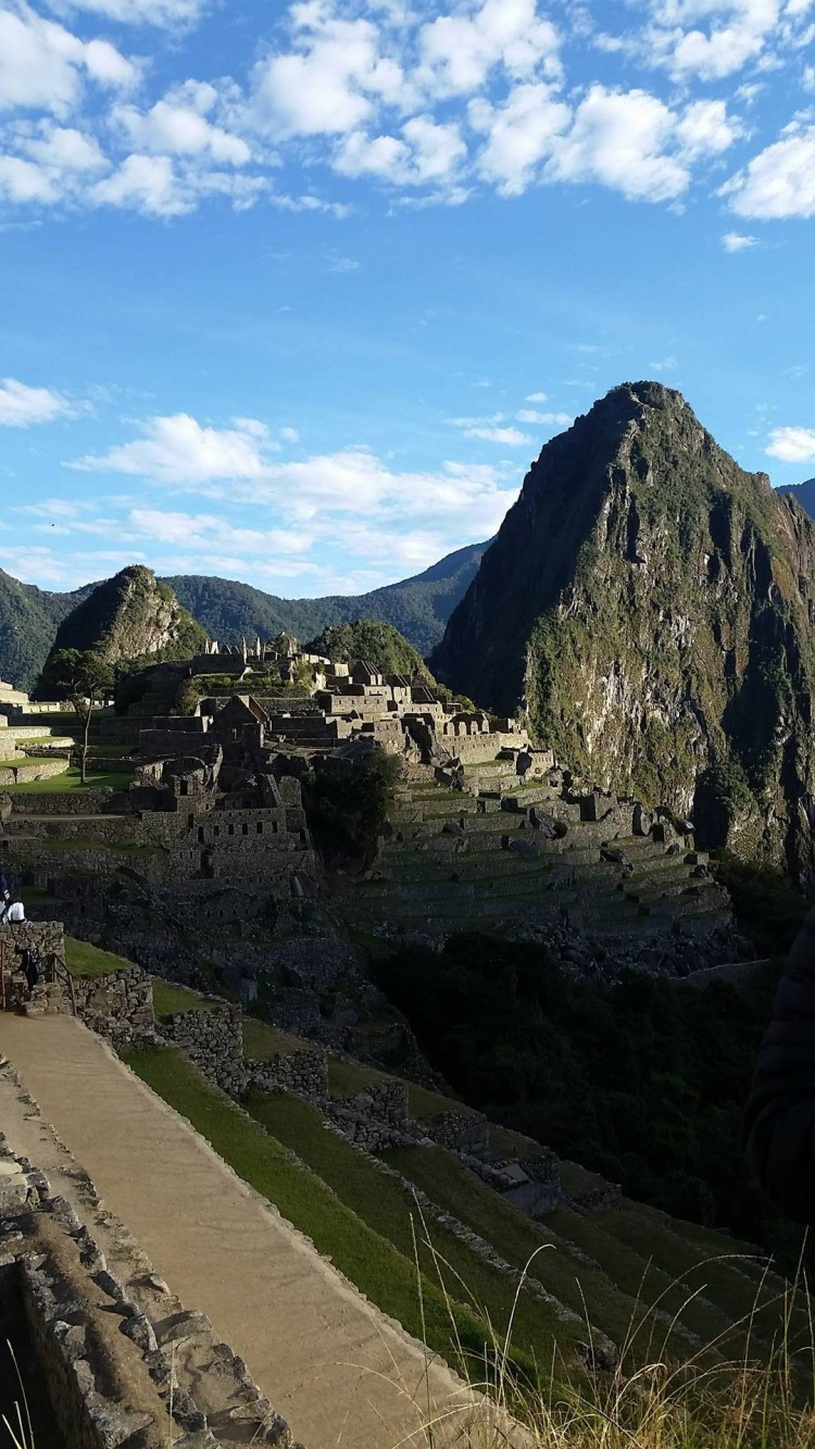 The day is beginning at Machu Picchu!