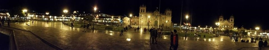 The end of the day in La Plaza de Armas!