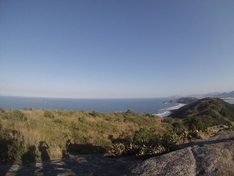 I took this photo from the top of the mountain which my ISA classmates and I had to hike to get to Praia da Galheta, an isolated beach which you can only get to by hiking.