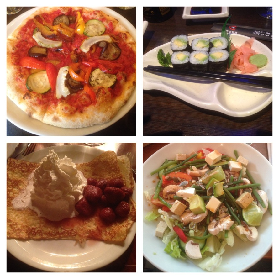 These are some of the delicious meals that I ate during my adventures in France.