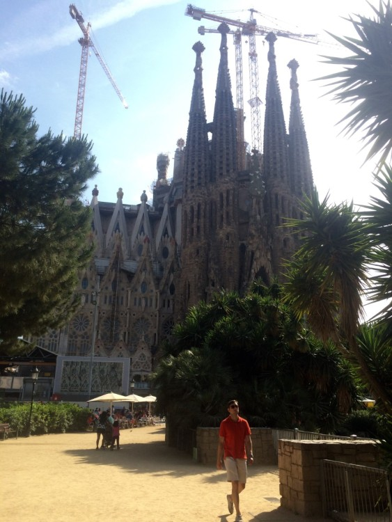 The Sagrada Familia, Nativity Façade designed by Gaudí and completed in 1930.