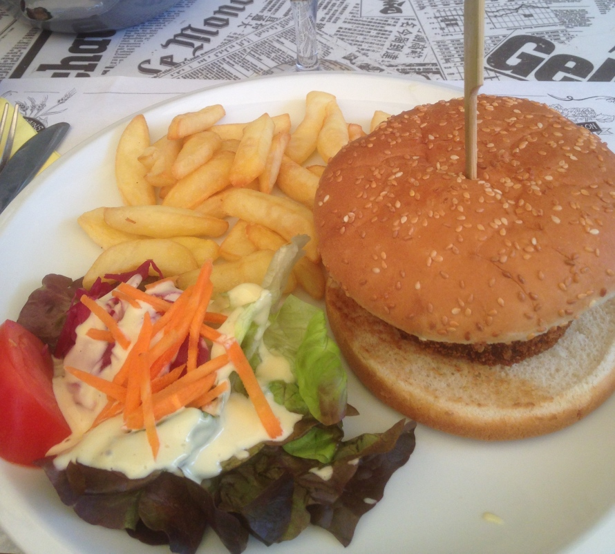Luckily I did not have to ask for this burger to be cooked a certain way because it was a veggie burger!