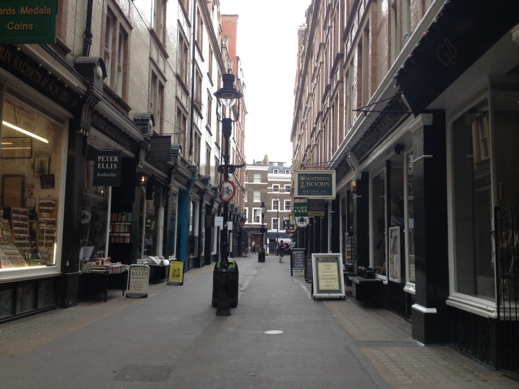 Cecil Court, otherwise known as the real Diagon Alley!