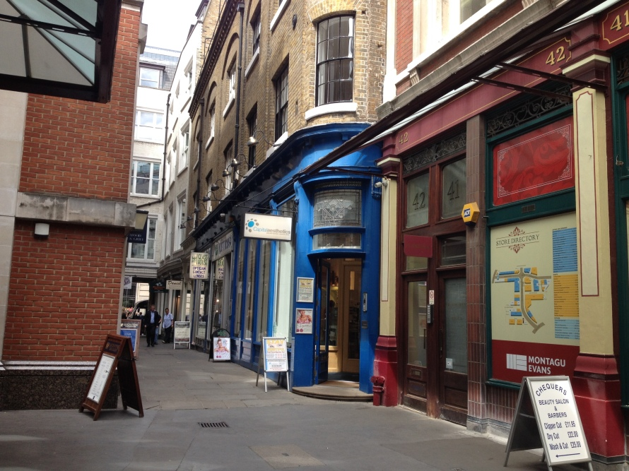 Back in Blue? The legendary Leaky Cauldron renovations as an optician office