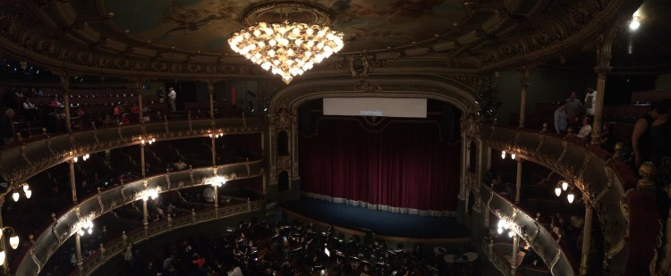 """One Friday evening I went with a group of 5 other girls to the National Theater in San Jose to see the opera """"La Bohéme"""""""