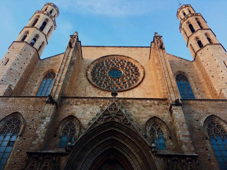 Basilica Santa Maria del Mar located in La Ribera.