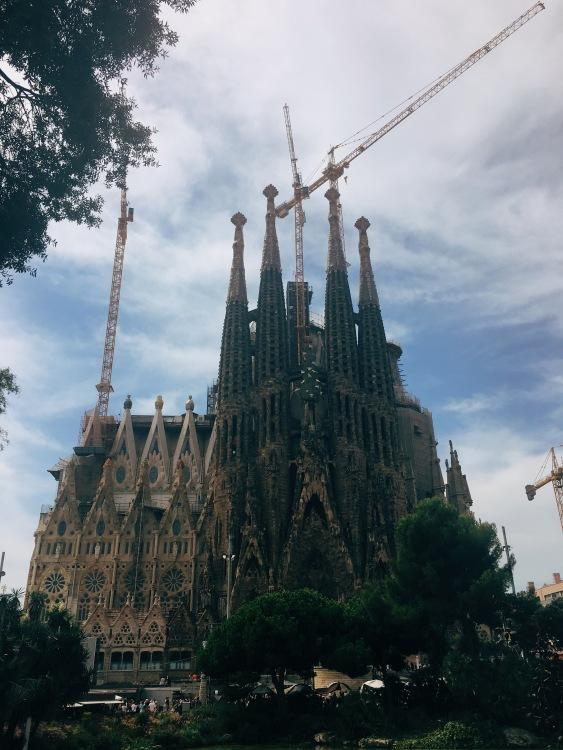 The world-famous, Antoni Gaudí's La Sagrada Familia.