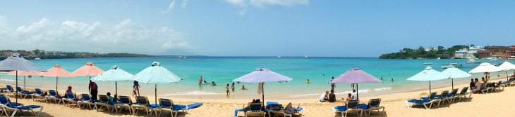 Sosúa is a huge vacation destination for Dominicans, the water is calm, clear, and blue.