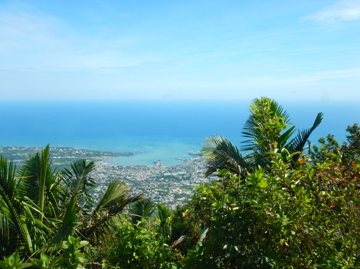 A view of Puerto Plata from atop Mount Isabel de Torres.