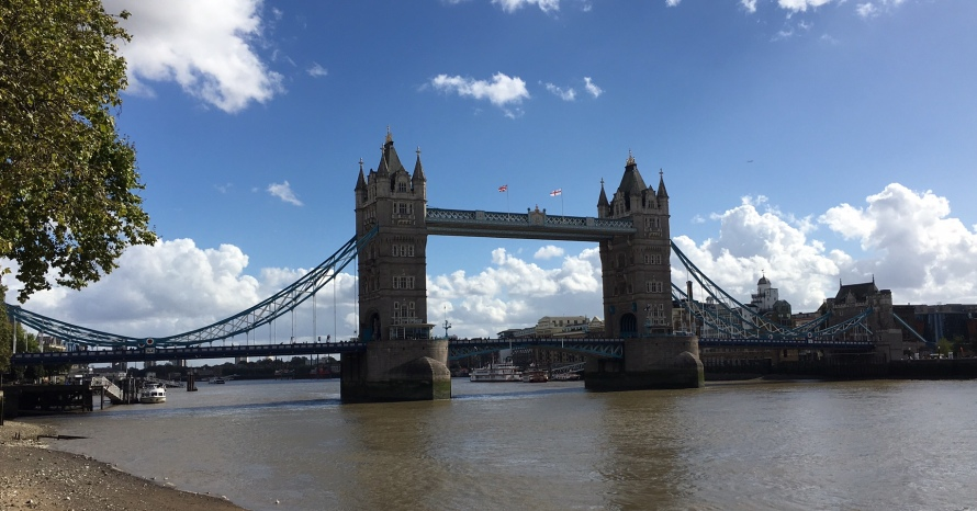 Not far from this bridge is the London Bridge, which it's often confused with.