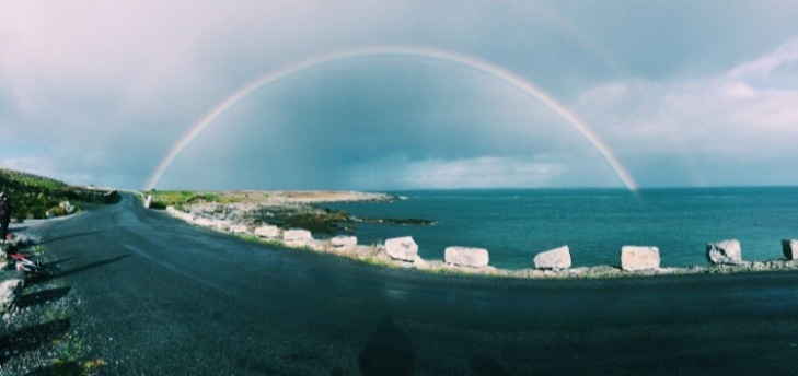 This is my favorite picture that I have ever taken! A full rainbow on the Aran Islands. What's better than this?!