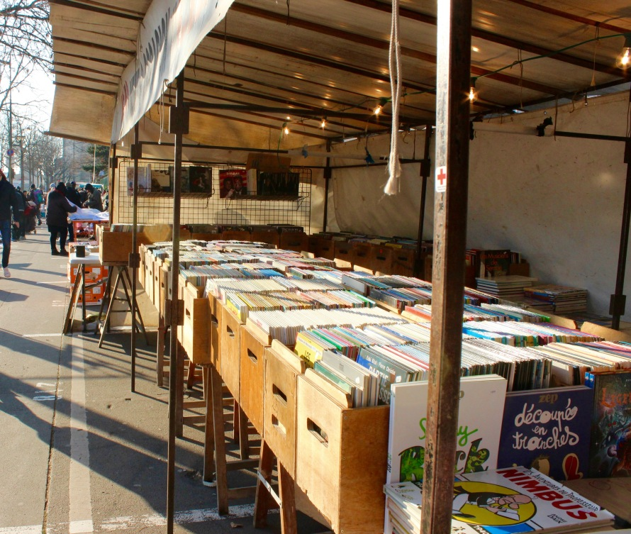 Tent Filled with Bandes Dessinées (French Comics)