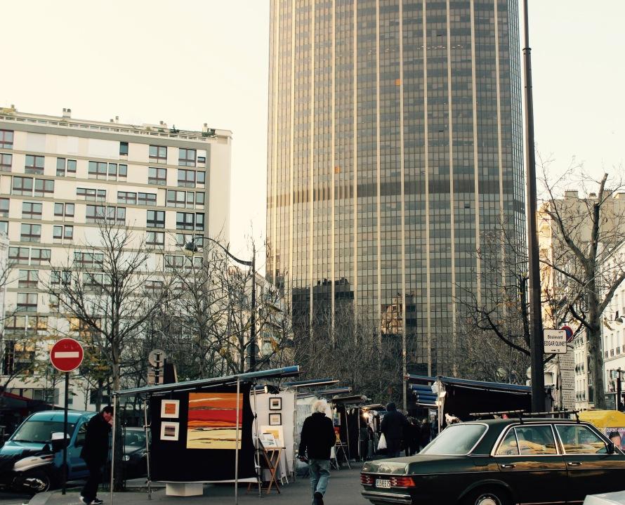 Marché de la Création in front of Montparnasse