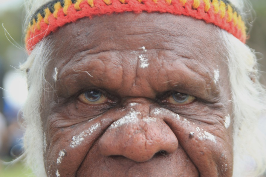 Max, the elder of the Gadigal people who were the original inhabitants of the Sydney area, celebrates Survival day at Yabun, the Aboriginal festival that recognizes the indigenous population still living in Australia.
