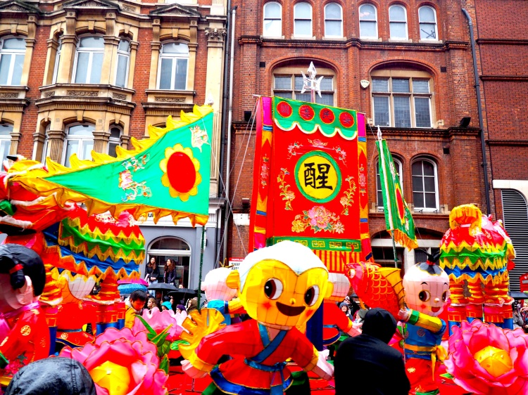 A beautiful float included in the Chinese New Year Parade on Shaftesbury Avenue