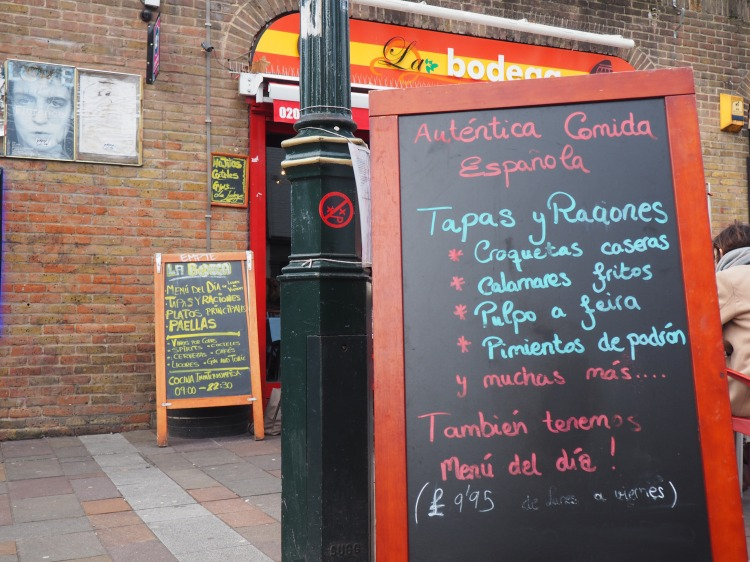 A Spanish Tapas restaurant on Portobello Road