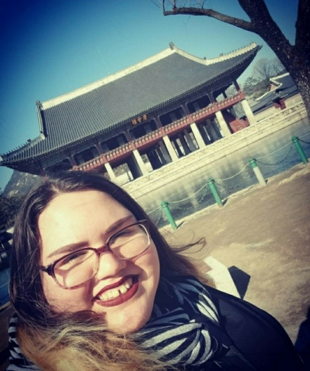 'Gyeongbukgung Selfie' Who couldn't resist a cute selfie within the walls of the amazing Gyeongbuk Palace during an ISA Excursion!? This girl!