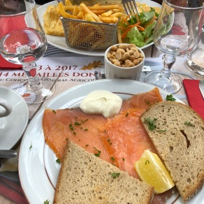 Salmon and Bread Lunch
