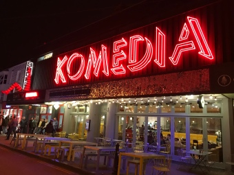 Komedia is a combined venue well-loved by Brighton locals, serving food, drinks, movies, and comedies during after-work hours.
