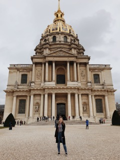 In front of the Hôtel des Invalides.