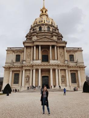 In front of the Hôtel des Invalides.