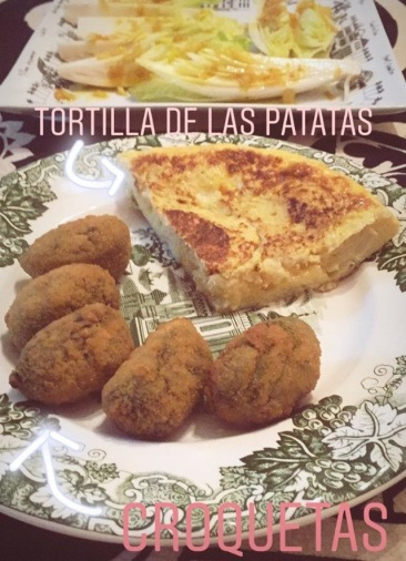 Homemade Croquettas and Spanish Tortilla