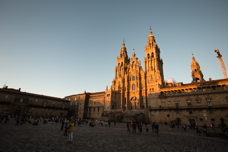 Cathedral Santiago in the sunset
